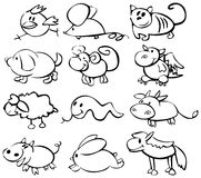 Cute animals, funny horoscope. Animals made in vector, Adobe Illustrator 8 EPS file
