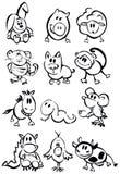 Cute animals, funny horoscope. Royalty Free Stock Photo