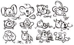 Cute animals, funny horoscope. Stock Photography