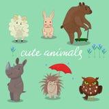Cute animals hand drawn style Vector illustration stock illustration