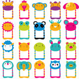 Cute animals head clip art set. In 20 different animals Royalty Free Stock Photo