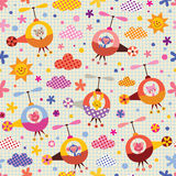 Cute animals in helicopters kids pattern Stock Photo