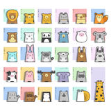 Cute Animals  Icon Set Stock Photo