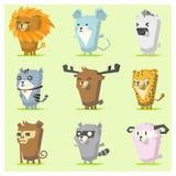 Cute Animals  Icon Set 3 Royalty Free Stock Image