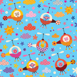 Cute Animals In Helicopters Kids Pattern Stock Image