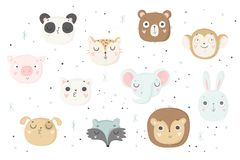 Cute Animals Isolated Illustration For Children Royalty Free Stock Photos