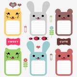 Cute animals scrapbook elements. Cute animals set of scrapbook elements vector illustration