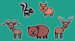 Cute animals set � Illustration Royalty Free Stock Photo
