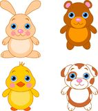 Cute animals set 01 Royalty Free Stock Photography