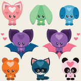 Cute animals set Royalty Free Stock Images