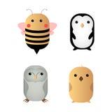 Cute animals. Set of different cute animals, Vector illustration stock illustration