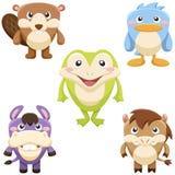 Cute animals set Stock Image