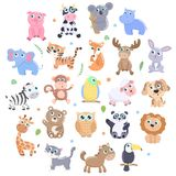 Cute animals set. stock illustration