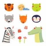 Cute animals set vector illustration