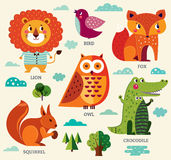 Cute animals royalty free illustration