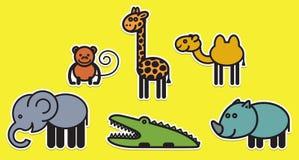 Cute animals set � Illustration Stock Photos