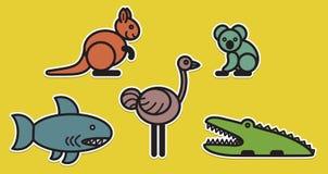 Cute animals set � Illustration Royalty Free Stock Image