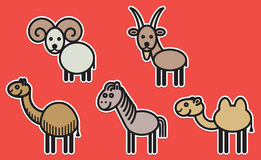Cute animals set - Illustration Royalty Free Stock Image