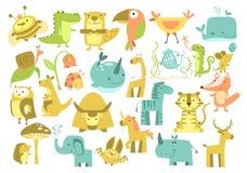 Cute animals set. Animals set. Cute animals vector Zoo illustration Stock Photo