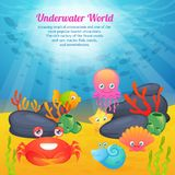 Cute animals underwater world series Stock Photo
