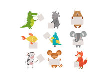 Cute animals vector character Stock Photo