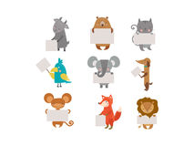 Cute animals vector character Royalty Free Stock Photography