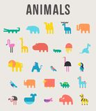 Cute Animals Vector illustration Icon Set on a white background. royalty free illustration