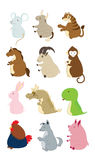 Cute animals. stock illustration
