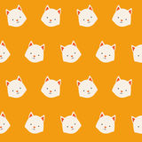Cute animals vector pattern Stock Images