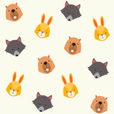 Cute animals vector pattern Stock Image