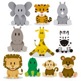 Cute Animals Vector Set Stock Image
