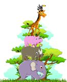 Cute animals wildlife collection. Illustration of cute animals wildlife collection Stock Photo