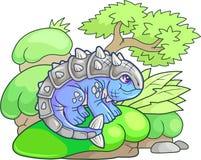 Cute ankylosaurus, funny illustration Royalty Free Stock Photo