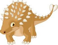 Cute ankylosaurus Stock Image