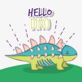 Cute ankylosaurus wildlife dino animal. Vector illustration stock illustration