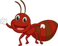 Cute ant cartoon presenting Stock Photo