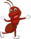 Cute ant cartoon waving Royalty Free Stock Photography