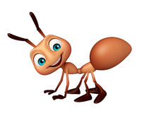 Cute Ant funny cartoon character. 3d rendered illustration of Ant funny cartoon character Royalty Free Stock Photo