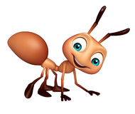 Cute Ant funny cartoon character. 3d rendered illustration of Ant funny cartoon character Stock Photography