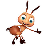Cute Ant funny cartoon character. 3d rendered illustration of Ant funny cartoon character Royalty Free Stock Image