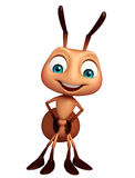 Cute Ant funny cartoon character. 3d rendered illustration of Ant funny cartoon character Royalty Free Stock Photos