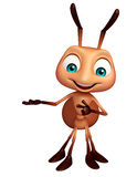 Cute Ant funny cartoon character. 3d rendered illustration of Ant funny cartoon character Stock Photos