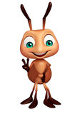 Cute Ant funny cartoon character. 3d rendered illustration of Ant funny cartoon character Stock Images