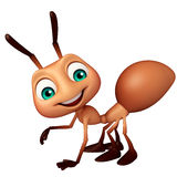 Cute Ant funny cartoon character. 3d rendered illustration of Ant funny cartoon character Royalty Free Stock Photography