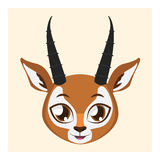 Cute antelope avatar with flat colors. Illustration of a cute antelope Royalty Free Stock Images