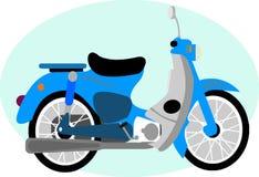 CUTE ANTIQUE MOTORCYCLE CARTOON Stock Photo