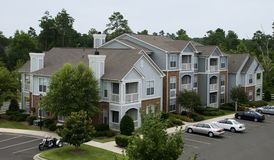 Cute Apartments. Cute Apartment complex in the trees Stock Images