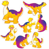 Cute Apatosaurus Royalty Free Stock Images