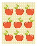 Cute apple background Stock Photos