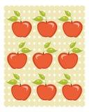 Cute apple background. Illustration Stock Photos